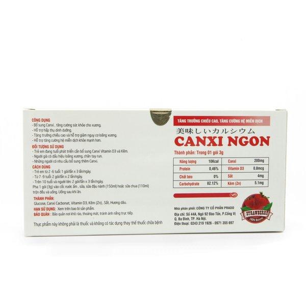 Thực phẩm bổ sung canxi Bột canxi Ngon Nhật Bản Fine Japan Vị Dâu